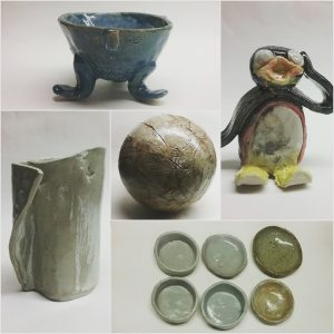 ClayMotion Student works Pottery in Ballarat
