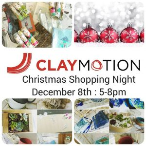 Christmas shopping night at ClayMotion Ballarat Victoria