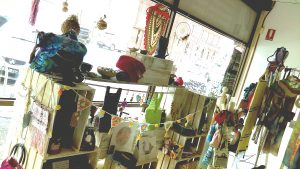 Window display handcrafted gifts at claymotion ballarat victoria
