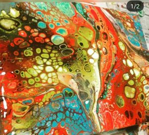 acrylic pouring for beginners at Claymotion Ballarat Victoria