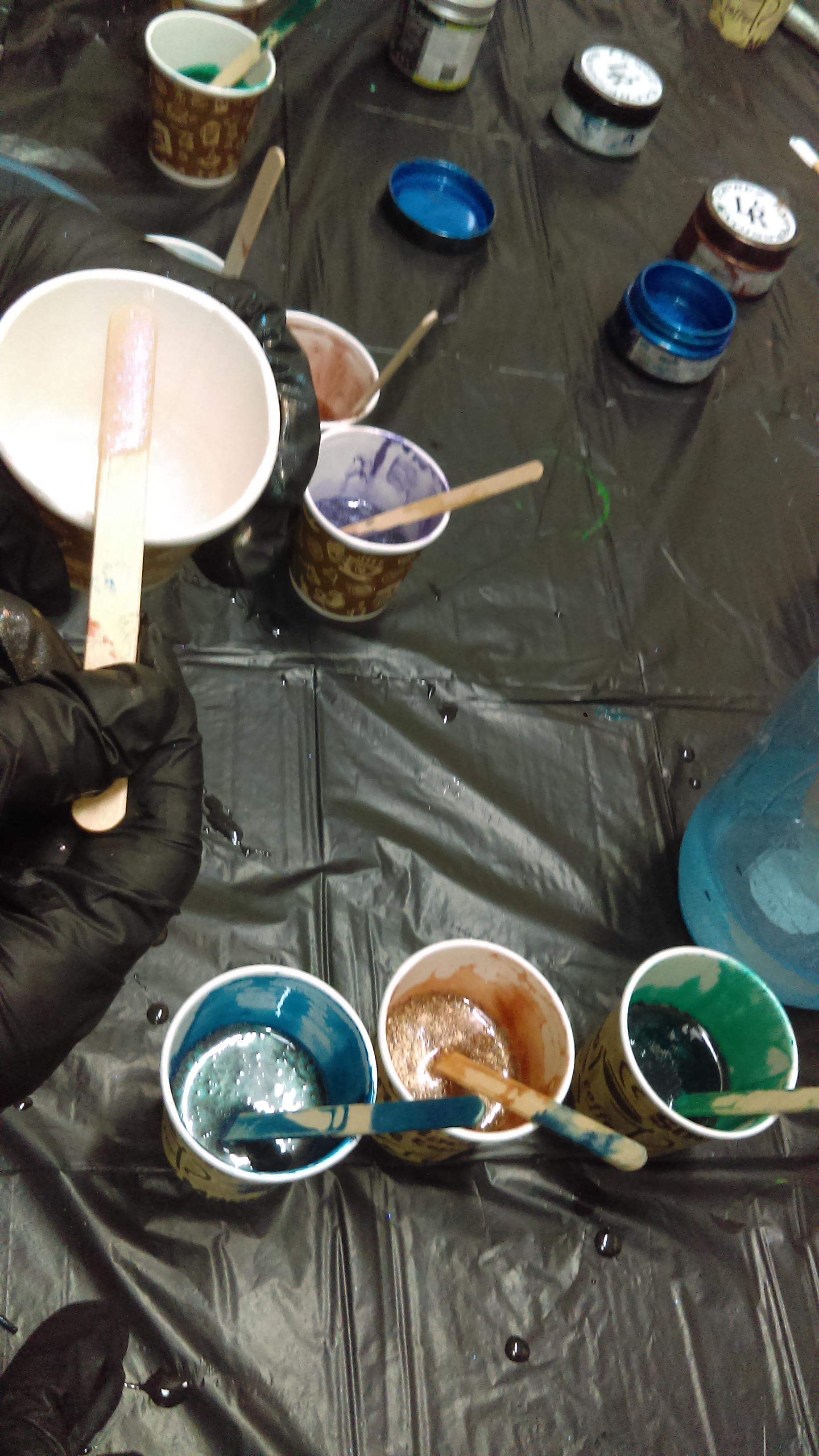 Resin Art Workshop at Claymotion Ballarat Victoria