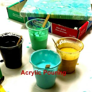 acrylic pouring at ClayMotion Ballarat Victoria