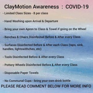 ClayMotion Covid-10 protocols Ballarat Victoria