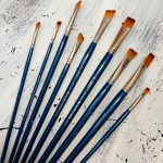 Flat Paint Brush set of 9