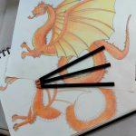 Children's drawing School Holiday Program - draw a dragon
