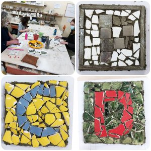 School Holiday Program mosaics at ClayMotion ballarat Victoria